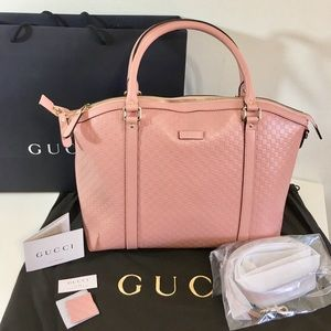 NWT GUCCI Microguccissima soft pink leather bag
